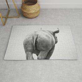 Rhino Tail - Black & White Rug