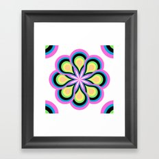 Colorful Feathers Flower Framed Art Print