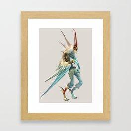 Rooster Warrior Framed Art Print