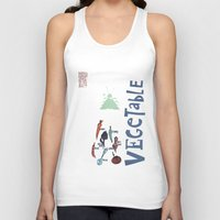 vegetable Tank Tops featuring Vegetable Garden by june and august