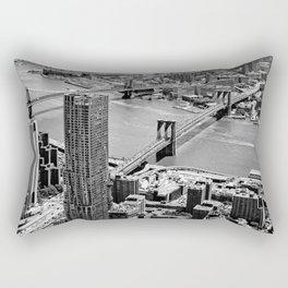 Brooklyn Bridge View - New York City Rectangular Pillow