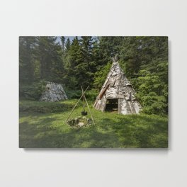 Micmac village, in the woods Metal Print