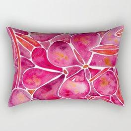 Orchid Wall – Magenta Palette Rectangular Pillow