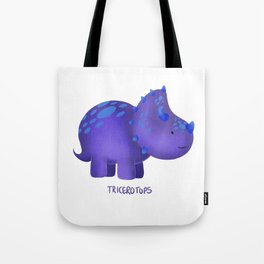 Tricerotops Tote Bag