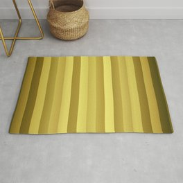 Large Rose Gold and Copper Stripes Rug