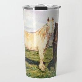 Caballos/Cabalos/Horses Travel Mug