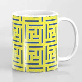 Human History (Lemon and Blue) Coffee Mug
