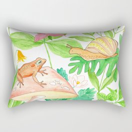 Frog meets Snail Rectangular Pillow