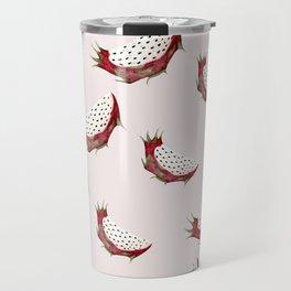 Dragon fruit watercolor pattern Travel Mug