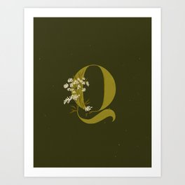 Q for Queen Anne's Lace Art Print