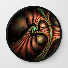 Surreal abstract fractal Wall Clock