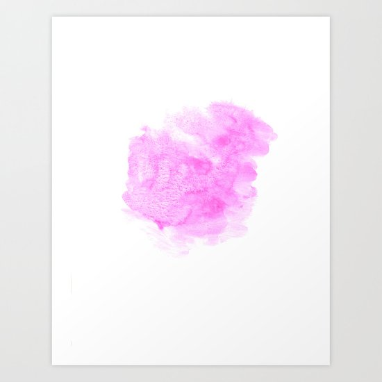 Pink watercolor abstract minimal modern painting perfect decor minimalist Art Print