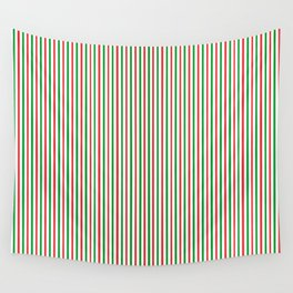 Christmas Time for Stripes Wall Tapestry