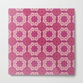 Moroccan Textured Tile Metal Print