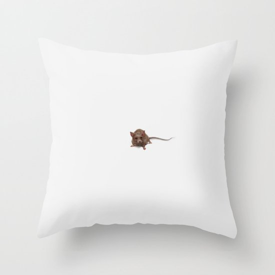 SEEDIE, the Little Brown Mouse Throw Pillow