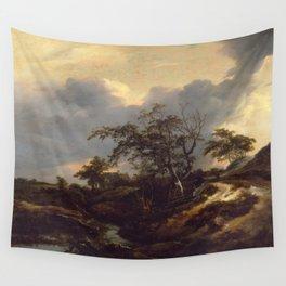 Jacob van Ruisdael - Landscape with Dunes Wall Tapestry