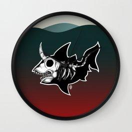 Dark Unicorn Shark Skeleton Wall Clock