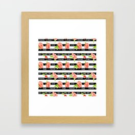 Fruit of the spirit - stripes with peonies Framed Art Print