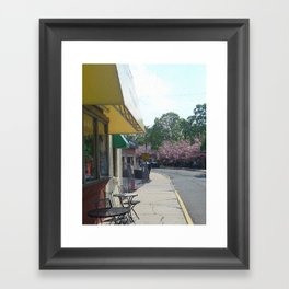Walk By Cafe Framed Art Print