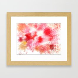 Red recollections  Framed Art Print