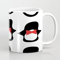 penguins Mugs featuring Penguins by Flash Goat Industries