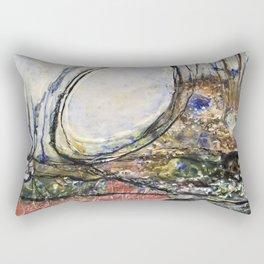 Dancing Dunes II - Mixed Media Beeswax Encaustic Modern Fine Art, 2015 Rectangular Pillow