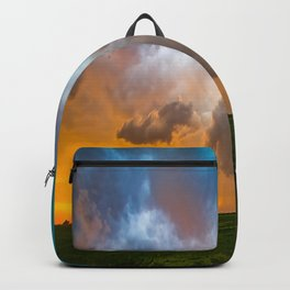 Glorious - Stormy Sky and Kansas Sunset Backpack