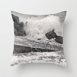 Angry Sea I Throw Pillow