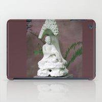 buddah iPad Cases featuring Sitting Buddah by WiccedArt