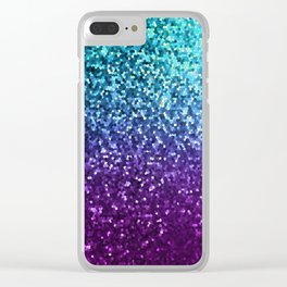 Mosaic Sparkley Texture G198 Clear iPhone Case