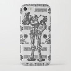 Metroid - Samus Aran Line Art Vector Character Poster iPhone 8 Slim Case
