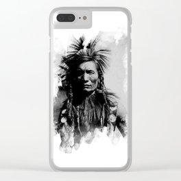 Classic Native Indian Chief Clear iPhone Case