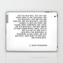 she was beautiful- Fitzgerald quote Laptop & iPad Skin