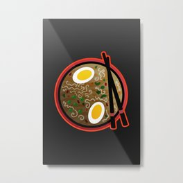 Ramen Noodles Artwork Metal Print