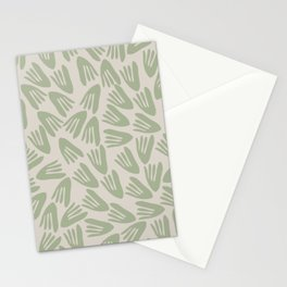 Papier Découpé Abstract Cutout Pattern in Sage Green Stationery Cards