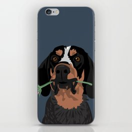 Cooper Bluetick coonhound iPhone Skin