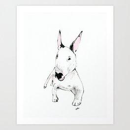 A Bull Terrier Puppy Art Print
