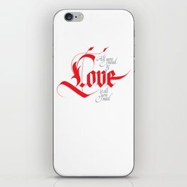 Love for share iPhone Skin