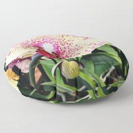 Vanilla Pink Lemonade Sweet Summer Tropical Island Orchids Floor Pillow