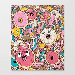 Donut Doodle Canvas Print