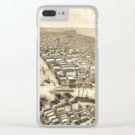 Vintage Pictorial Map of Milwaukee WI (1879) Clear iPhone Case