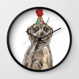 Meerkat Party Wall Clock