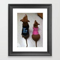 Grease Dogs Framed Art Print