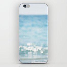 Beach Ocean Photography Art, Blue Coastal Photo, Aqua Seascape Photograph, Waves Art iPhone Skin