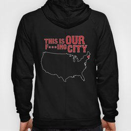 Boston Strong - This is our f***ing city - USA on dark Hoody