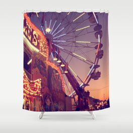 Midway Sunset Shower Curtain