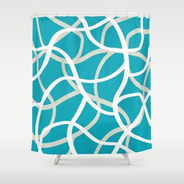 ABSTRACT LINES 001 Shower Curtain