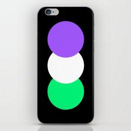 Genderqueer in Shapes iPhone Skin