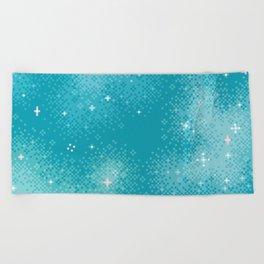 Winter Nebula Beach Towel