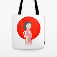 chihiro Tote Bags featuring Chihiro by adovemore